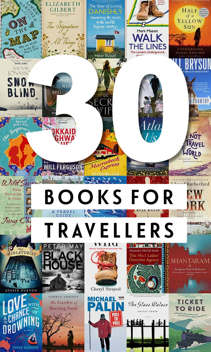 30 wanderlust-inspiring books for travellers, featuring the best fiction, non-fiction and memoirs – travel books to transport you around the world. #books #reading #travelbooks #travelreads
