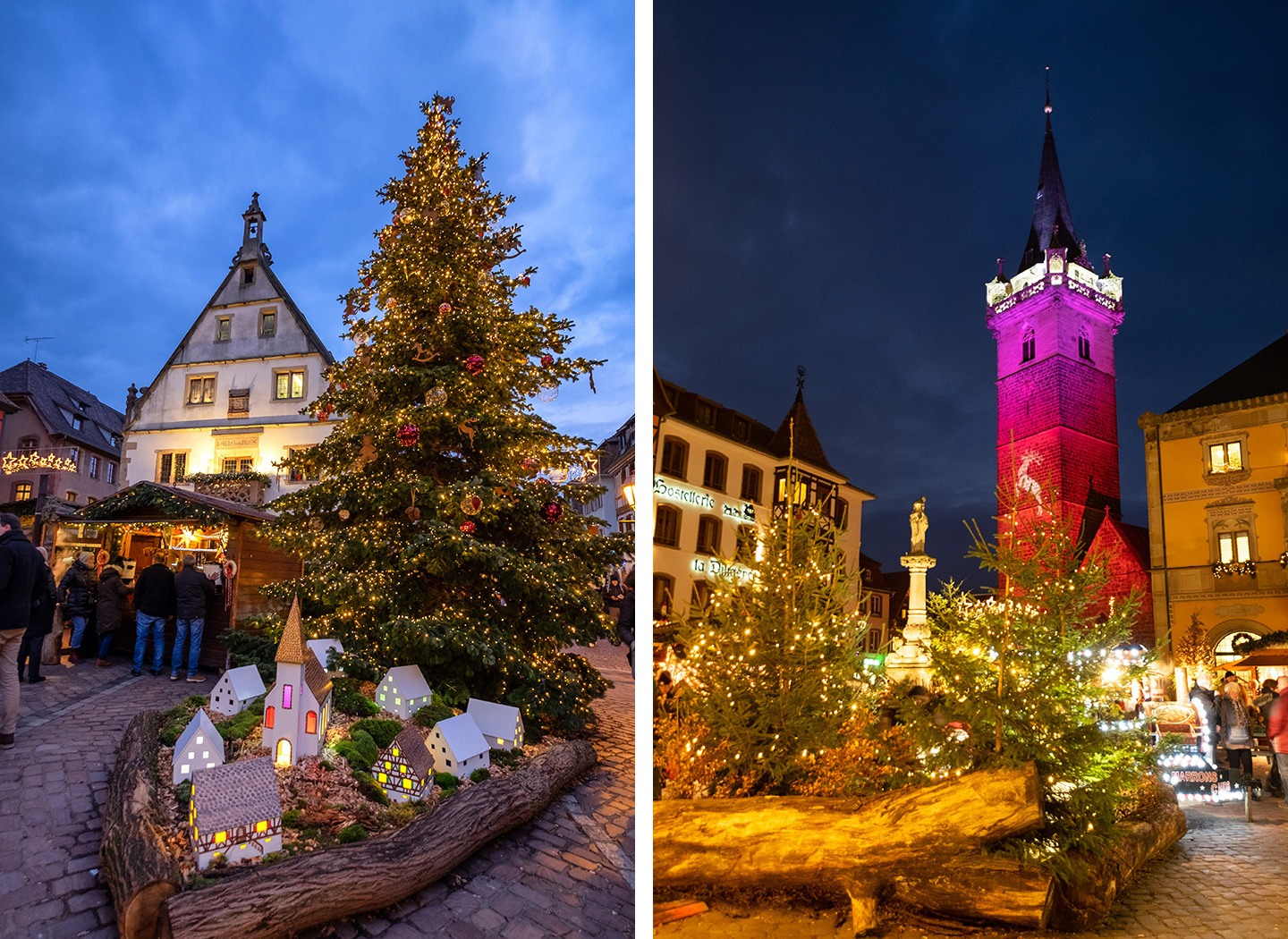 Obernai Christmas markets in the Alsace, France