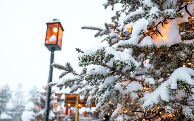 Christmas lights in Rovaniemi, Finland