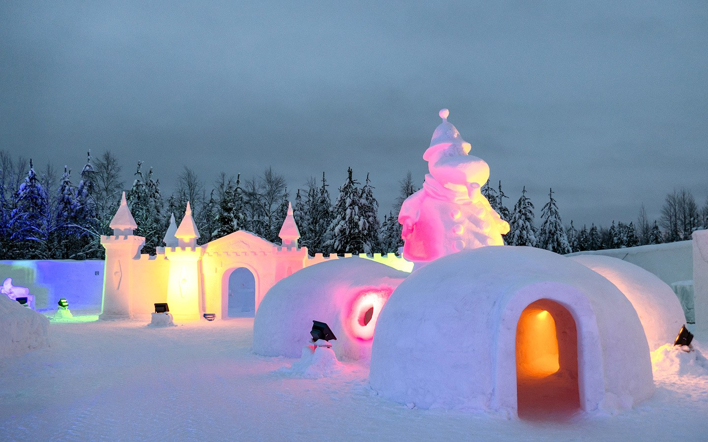 The Moomin Snow Castle in Finnish Lapland