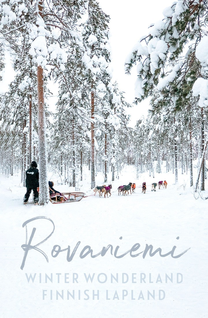 Everything you need to know for a trip to Rovaniemi, a snow-filled winter wonderland in Finnish Lapland, including Santa Claus Village, husky sleds, reindeer sleighs, ice sculpures and more #Lapland #Finland #Rovaniemi #winter