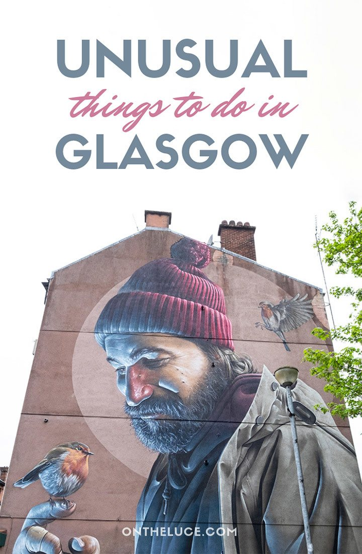 The best unusual and alternative things to do in Glasgow, Scotland – featuring hidden gems including the mural trail, gin spa, Clyde boat trips and more. #Glasgow #Scotland