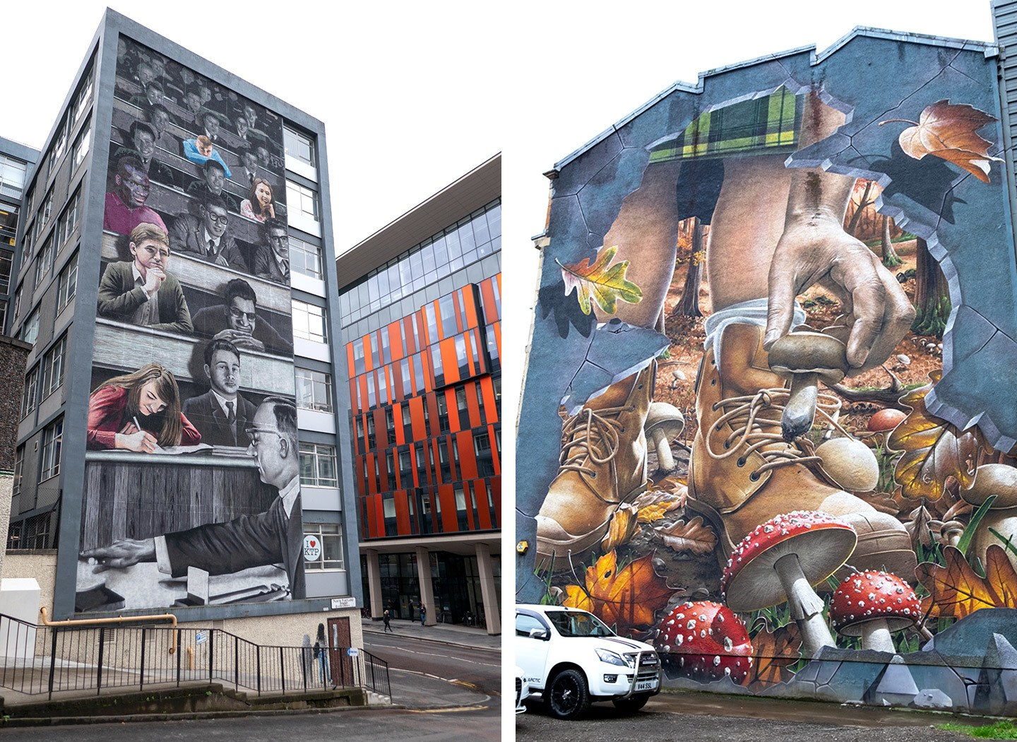 Artworks on the Glasgow City Centre Mural Trail