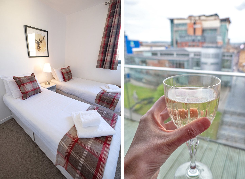 Matrix apartments in Glasgow – bedroom and balcony