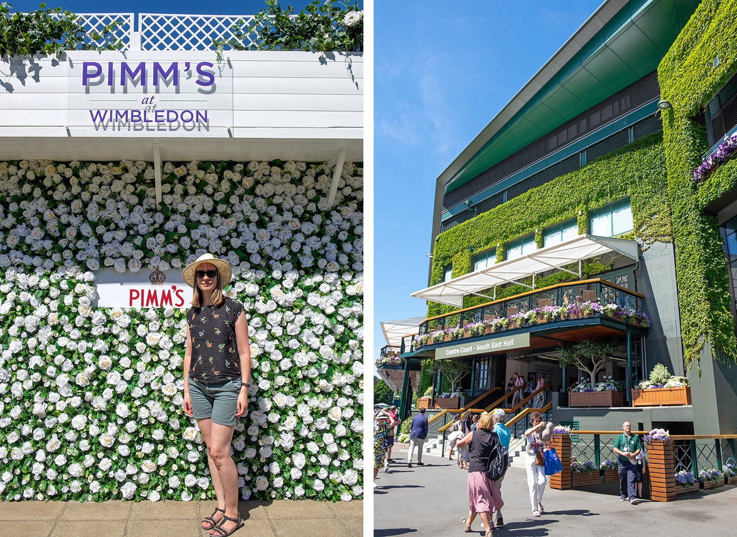 Dressed up for the tennis at Wimbledon