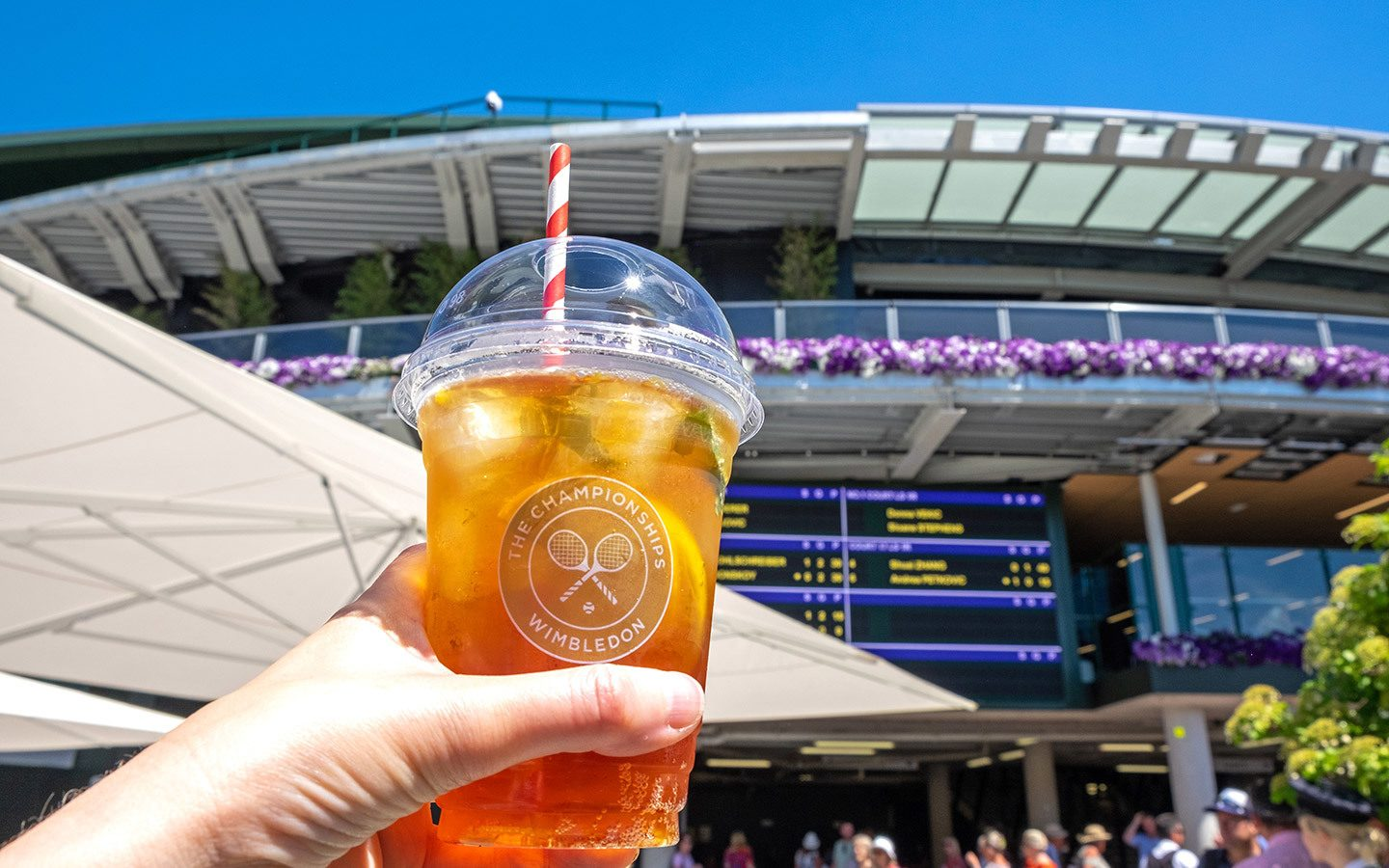 Glass of Pimms at the Wimbledon Tennis Championships