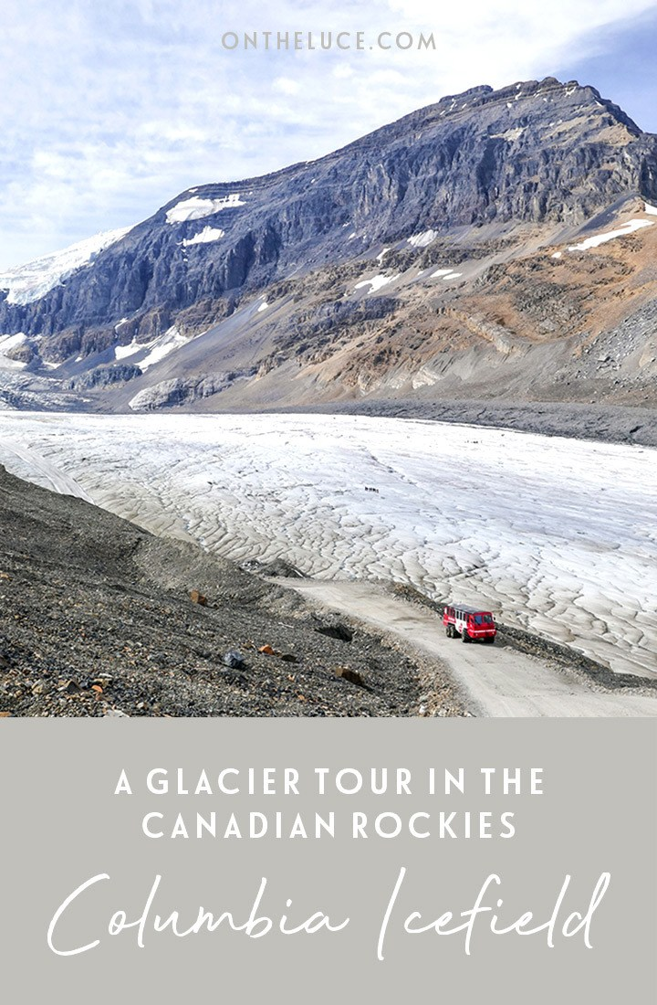 A Columbia Icefields tour in the Canadian Rockies – on board an ice explorer for a glacier walk on the surface of the Athabasca Glacier. #Canada #Alberta #glacier