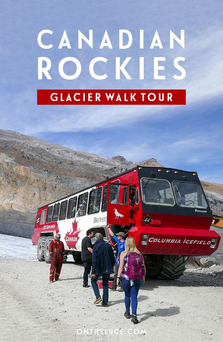 On the ice in the Canadian Rockies – a glacier walk on the Athabasca glacier with a Columbia Icefields tour #Canada #Alberta #glacier