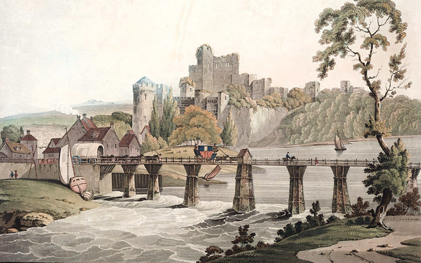 19th-centurty artworks of Chepstow Castle