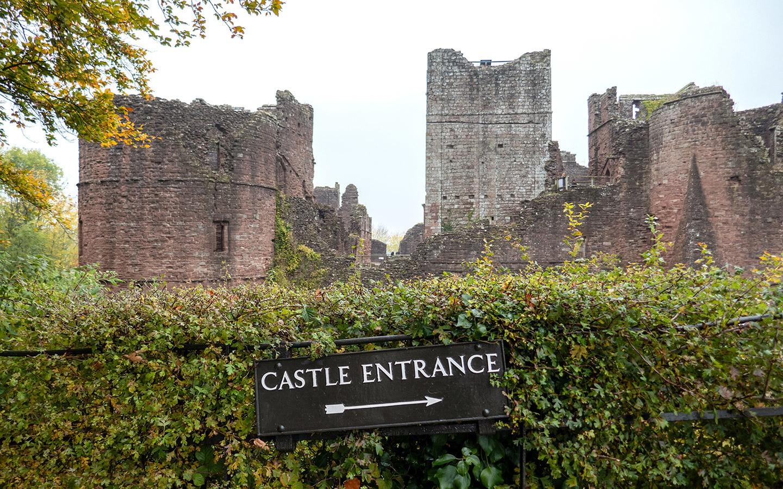 The medieval Goodrich Castle