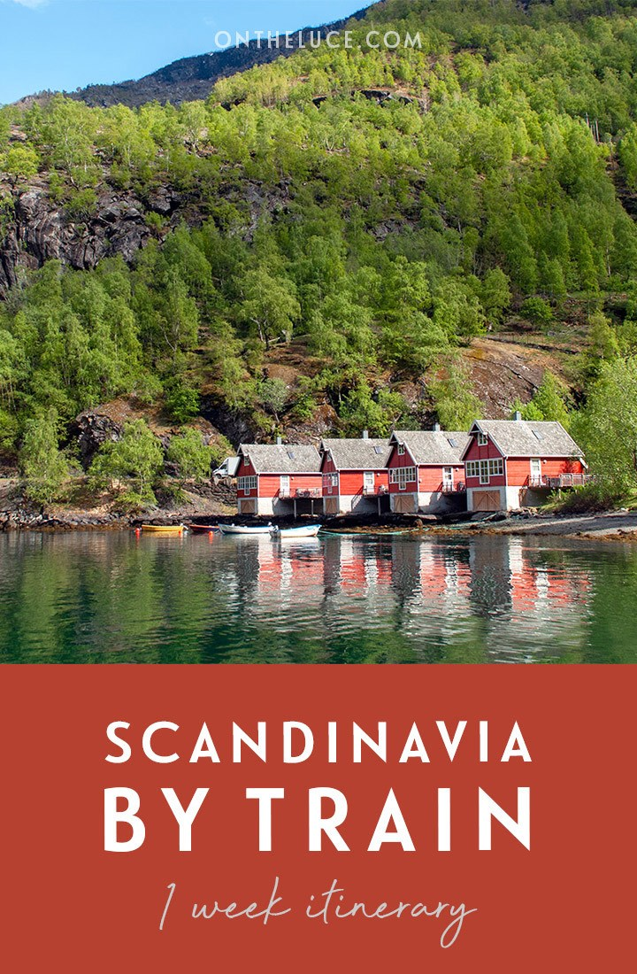 Scandinavia by train: A one-week rail itinerary through Denmark, Sweden and Norway, travelling from Copenhagen to Stockholm, Oslo, Bergen and through the Norwegian fjords on the scenic Flam Railway. #interrail #europe #train #rail #scandinavia