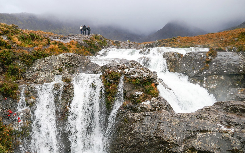 The Fairy Pools waterfalls in the Isle of Skye, Scotland
