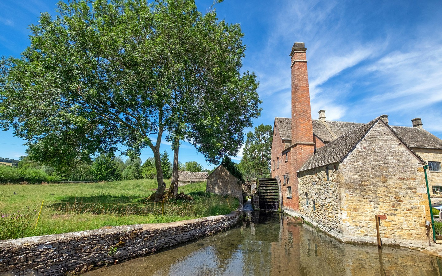 The Old Mill in Lower Slaughter in the Cotswolds