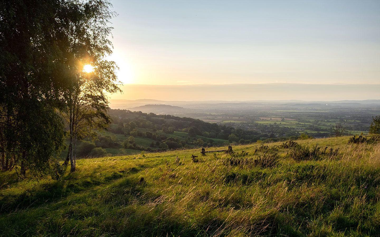 Sunset from Leckhampton Hill, Cheltenham