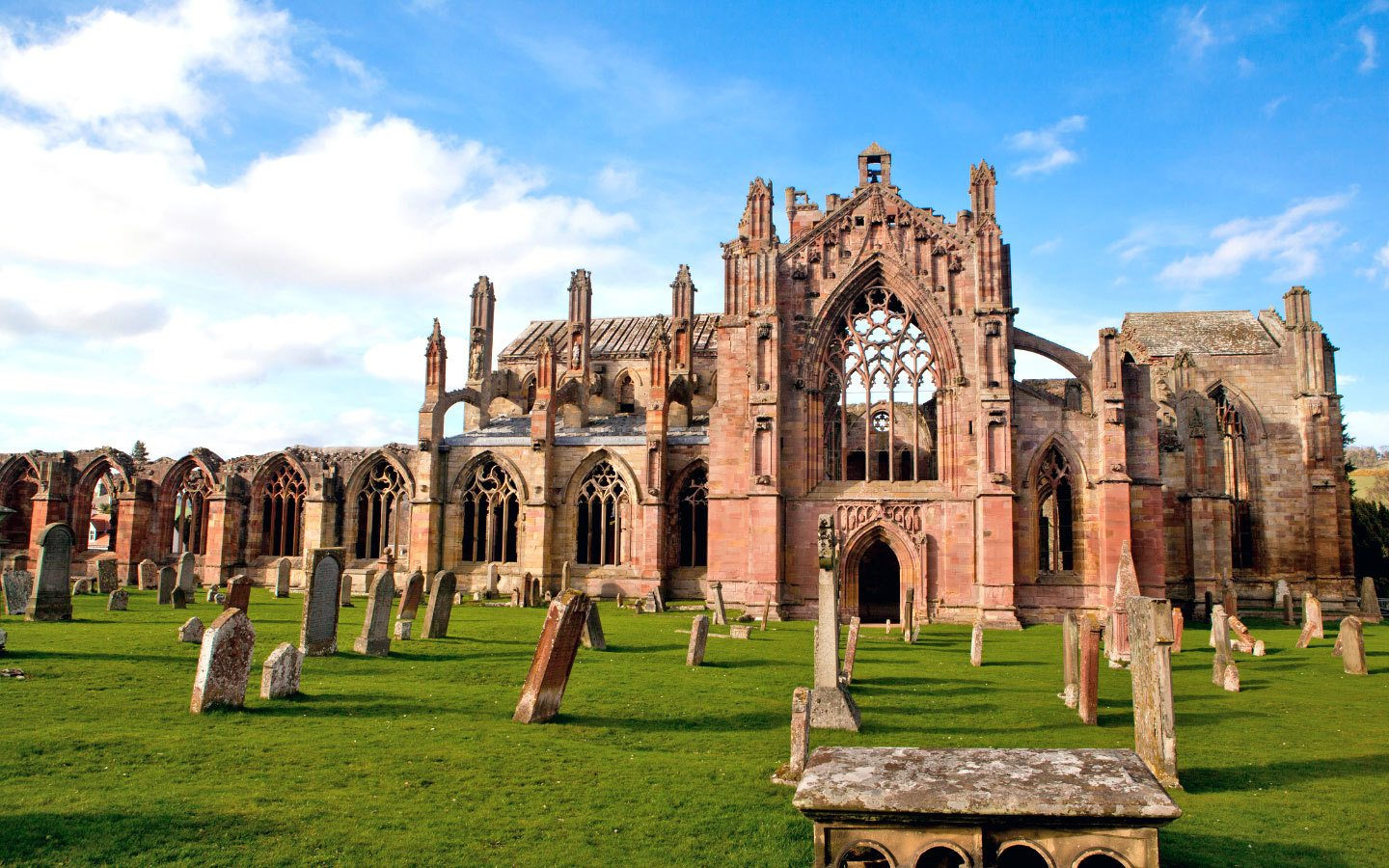 Melrose Abbey in the Scottish Borders [photo credit Canva]