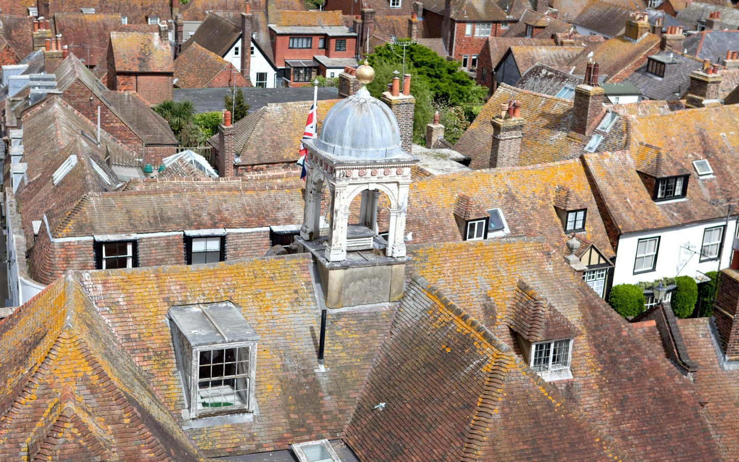 View of Rye from the tower of St Mary's Church