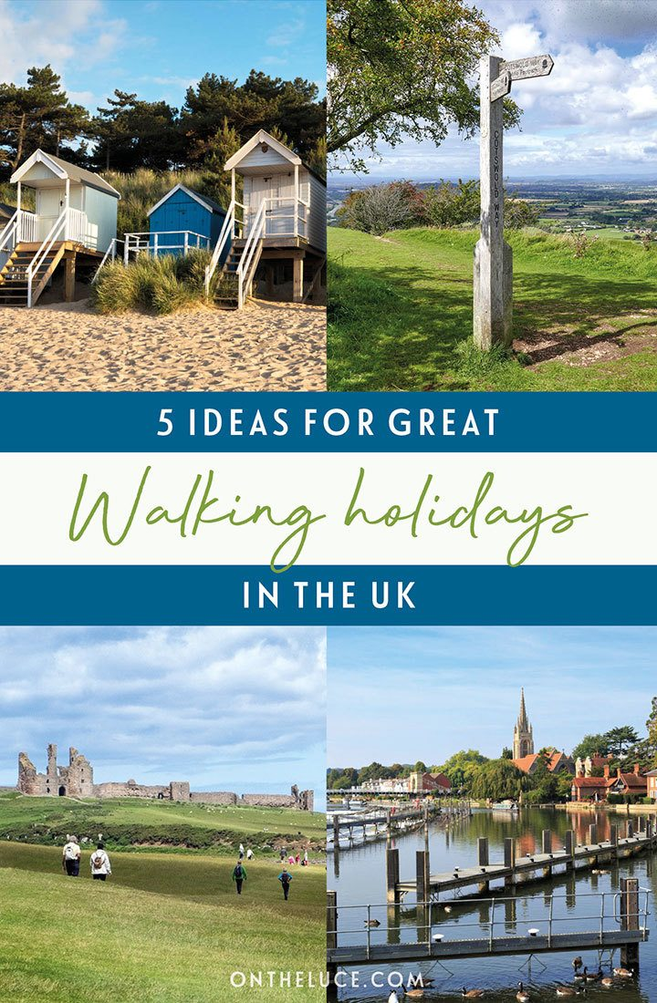 Five great ideas for walking holidays in the UK, from the coast paths of North Norfolk to the Scottish borders on a self-guided UK walking trip | UK walking holidays | Self-guided walking holidays | Walking holidays in the UK