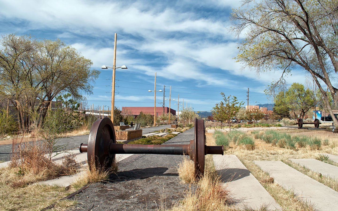 Old railway details in the railyard park, Santa Fe, New Mexico