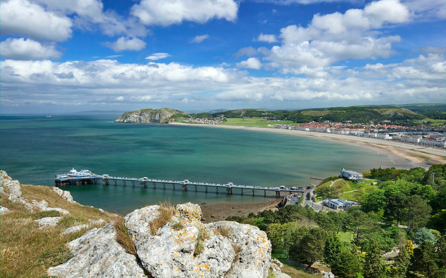 Llandudno in North Wales from above