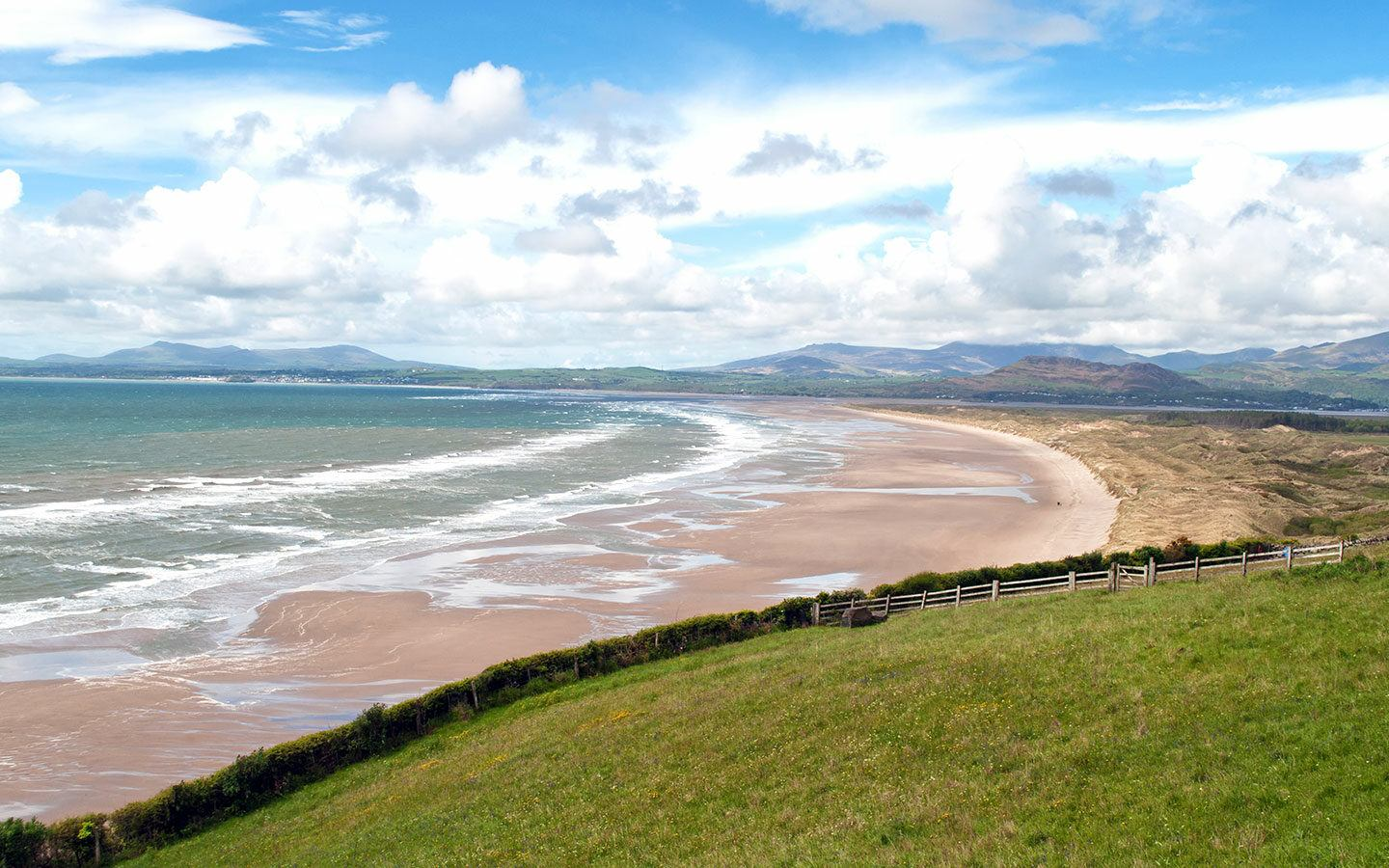 Harlech beach in North Wales