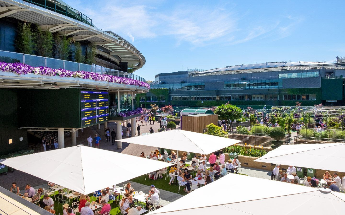 Looking out over the site of the Wimbledon Championships