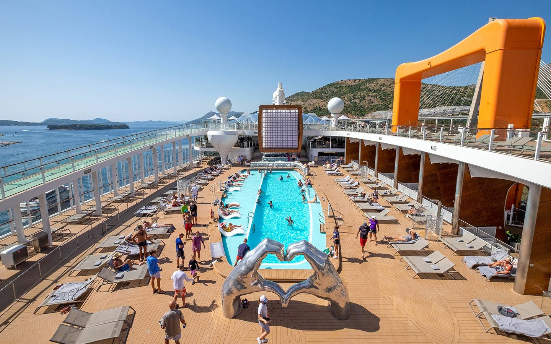 The pool deck on Celebrity Apex