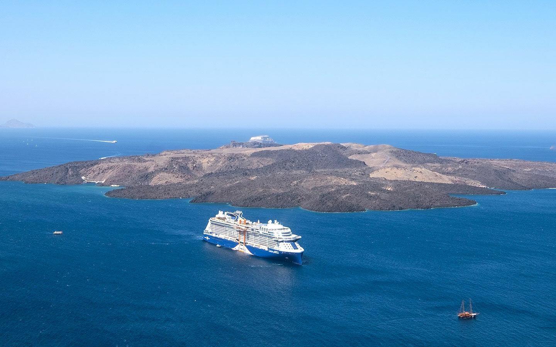 Celebrity Apex in Santorini, Greece